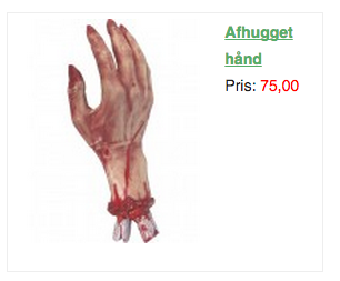 halloween hånd